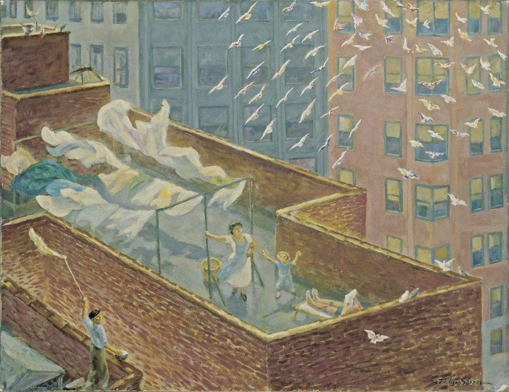 John Sloan, A Roof in Chelsea