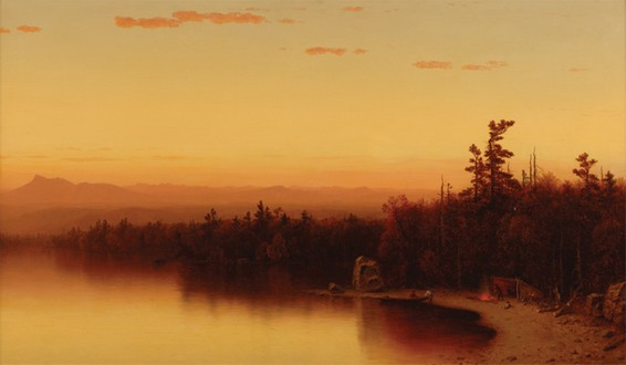 Oil Painting: A Twilight in the Adirondacks by Sanford Robinson Gifford