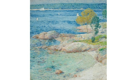 The Outer Harbour by Childe Hassam
