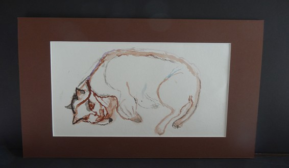 Original Watercolor Painting from The Hyde Museum's Exhibition: Works of Memory